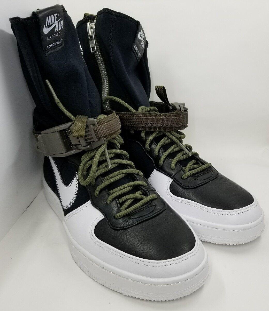 Nike af1 downtown - - - sp abkürzung schwarz / weiß - olive 649941-001 b - sz - 8 cad3dd