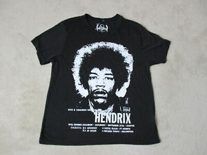 Jimi-Hendrix-Concert-Shirt-Adult-Medium-Black-White-Rock-Tour-Music-Band-Mens