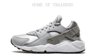 ec67705e275ff8 Nike Air Huarache Run Wolf Grey White Black Girls Women s Trainers ...