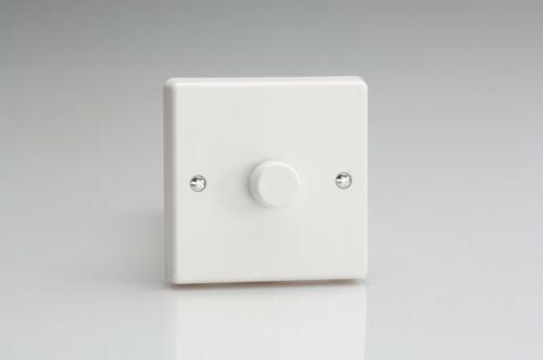 Varilight Plastique Blanc V-com DEL 1 2 3 Gang 2 Way Push On//Off Gradateur Interrupteurs