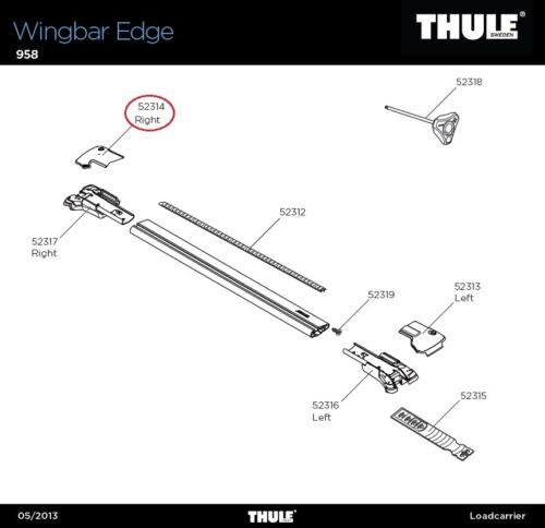 Cache droite pour WINGBAR Edge Cover RH Edge 958