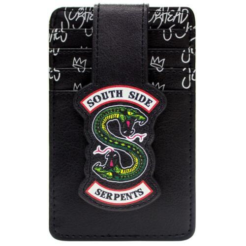 deuxième Officiel Riverdale Southside serpents Noir ID /& carte porte-carte Portefeuille