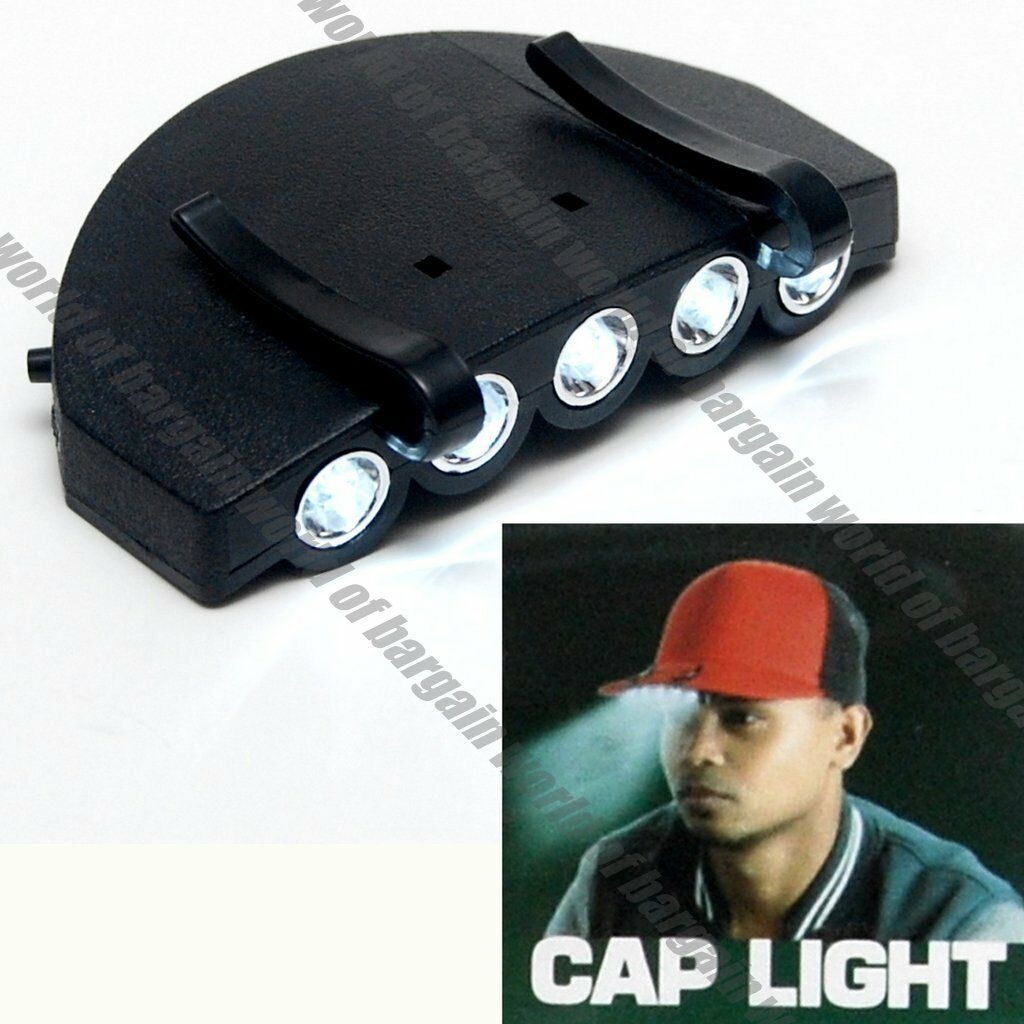 Black Lightweight Led Cotton Adjustable Baseball Cap Multi-Purpose Headlight Hat Fishing Hat with Light for Outdoor Fishing Hiking Traveling