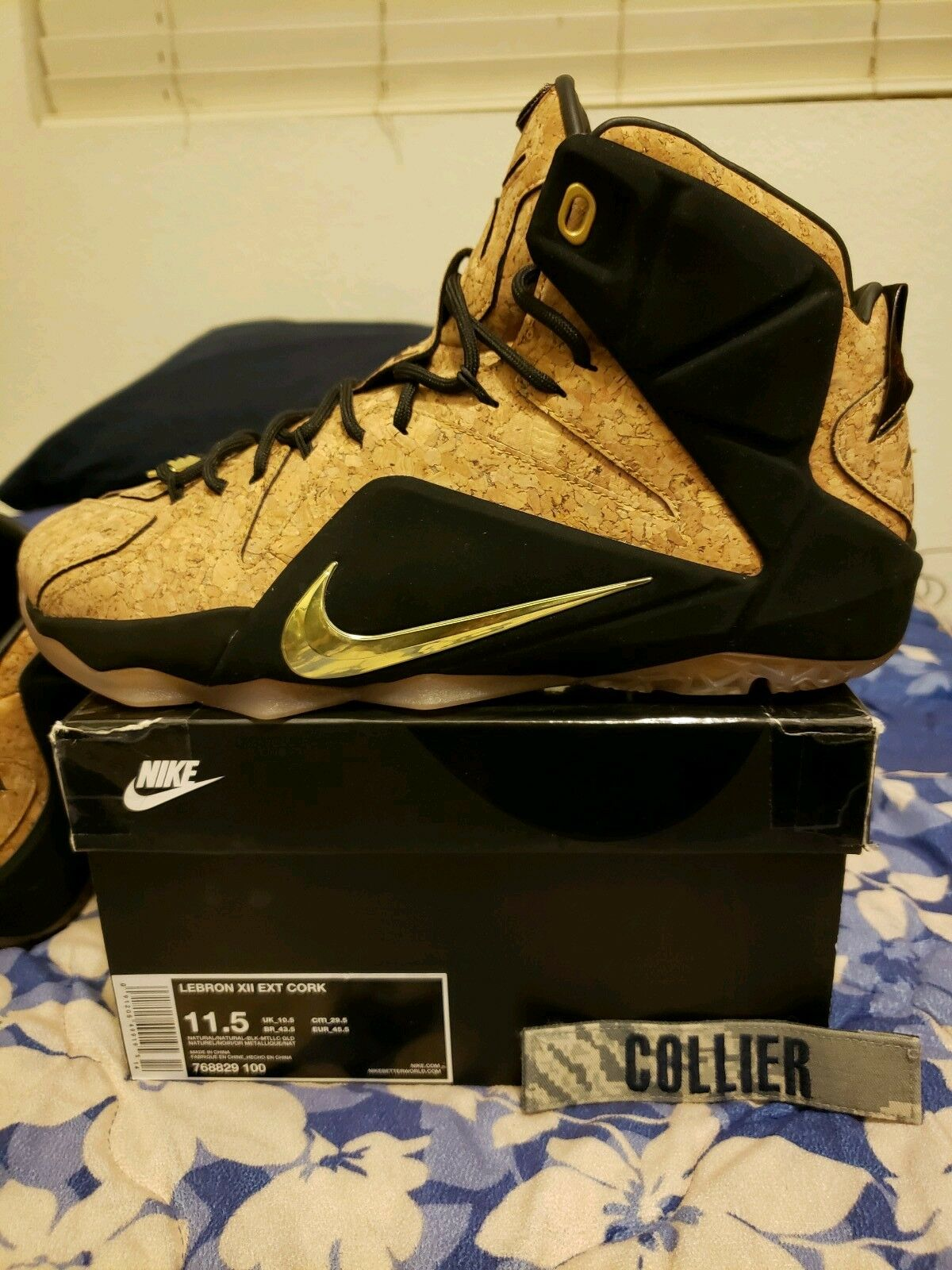 Mr/Ms Nike 12 Lebron 12 Cork Size 12 Nike The color is very eye-catching Fast delivery Tide shoes list 318962