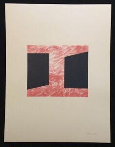 Achim Hoops, Ohne Titel, farblithographie, 1992, a mano firmata e datata