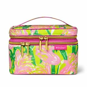 Details about NWT LILLY PULITZER Makeup Bag TRAVEL COSMETIC TRAIN CASE Fan  Dance Target NEW!