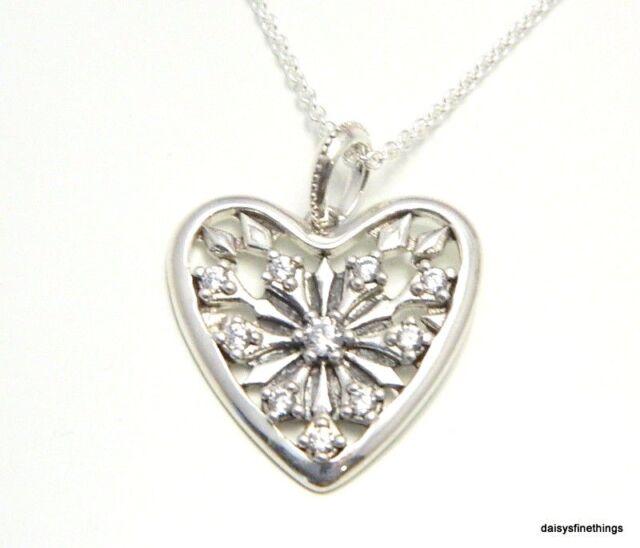 3b029b7115f59 3pc Christmas Gift Set - PANDORA Heart of Winter Snowflake Necklace &  Earrings