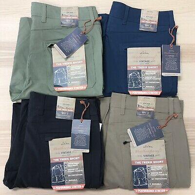 Weatherproof Vintage Mens Comfort Stretch Utility Cargo Shorts with Adjustable B