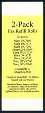 2-pack UX-5CR Fax Refills for Sharp UX-A255 UX-A260 UX-CL220 UX-CC500 UX-CD600