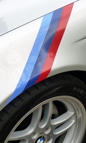 BMW M sport style colour stripe sticker decal 50mm E30 E36 E39 E46 E90 M3 M5 Z4