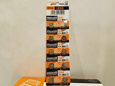 70 NEW LR44 MAXELL A76 L1154 AG13 357 SR44 303 BATTERY FREE SHIPPING FROM USA