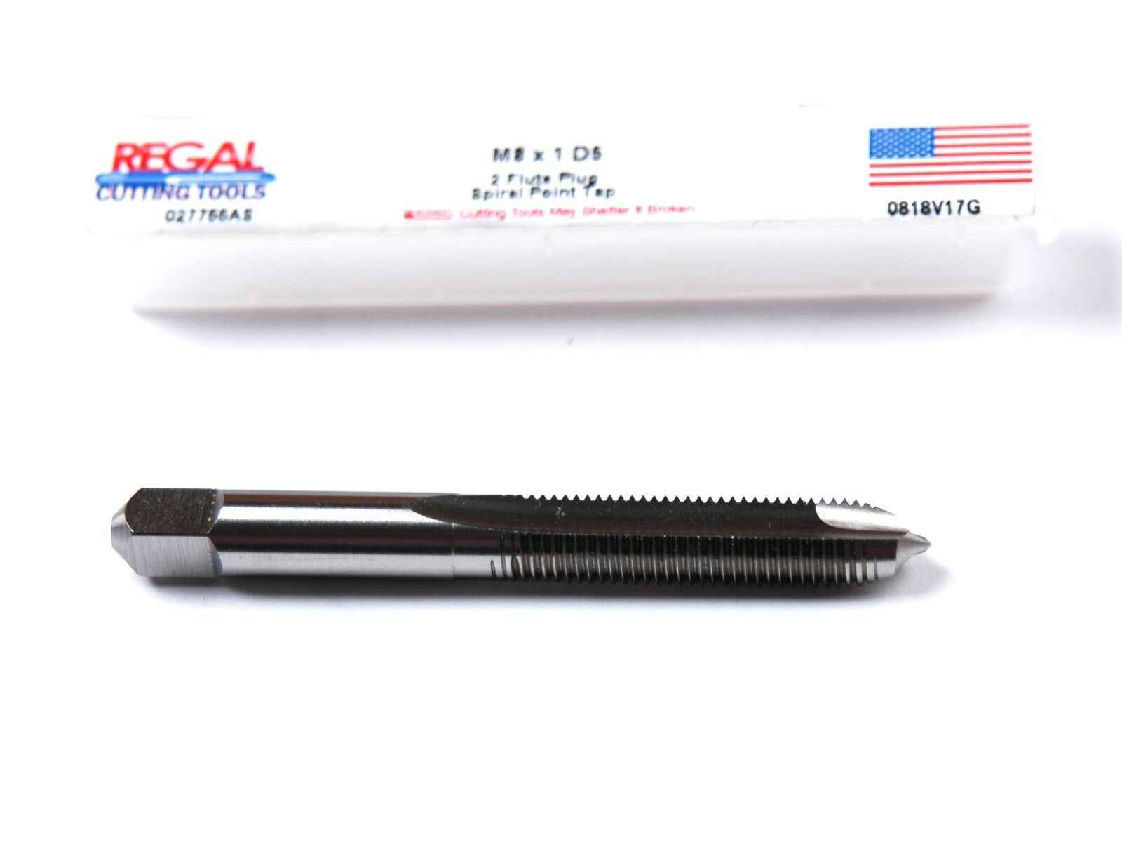Round Shank with Square End Plug Chamfer H3 Tolerance 3//4-16 Thread Size TiN Coated YG-1 M8 Series Premium HSS Spiral Pointed Tap