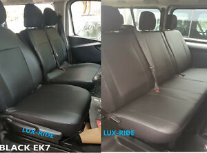 VAUXHALL VIVARO 2014-2019 ARTIFICIAL LEATHER EMBOSSED TAILORED SEAT COVERS