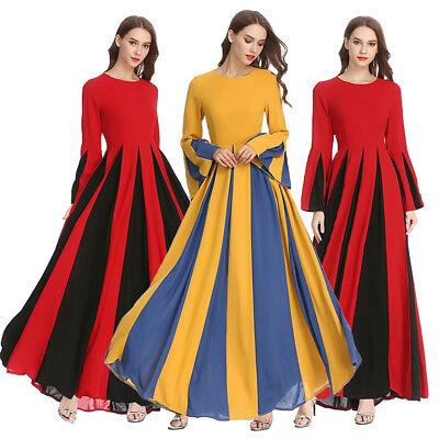 Dubai Women Chiffon Cocktail Party Ball Gown Dress Muslim Maxi Kaftan Abaya Robe
