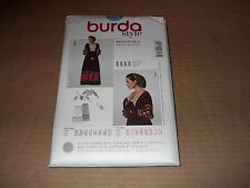 Burda Pattern 7171 Misses' Renaissance Victorian Skirt, Top, Snood Costume 10~24