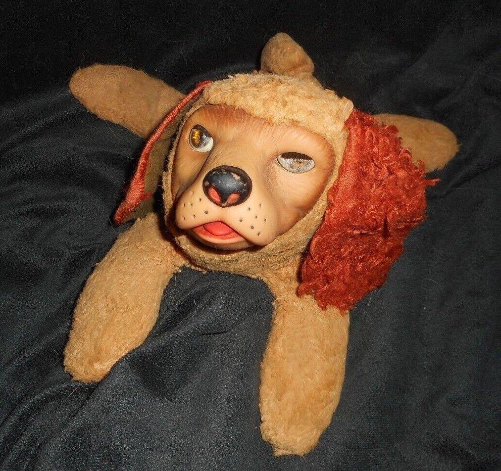 VINTAGE GUND CREATION REGAL BEAGLE RUBBER FACE PUPPY DOG STUFFED ANIMAL PLUSH