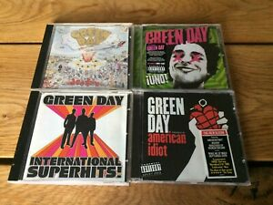 4-GREEN-DAY-CD-ALBUMS-International-Super-Hits-Uno-American-Idiot-Dookie