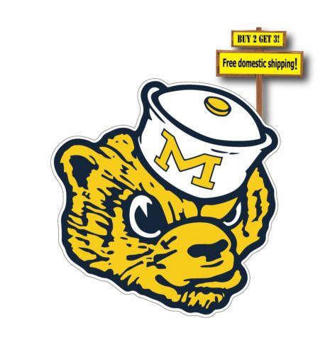 University of Michigan Wolverines Decal//Sticker Cornhole CHOOSE SIZE STYLE p86