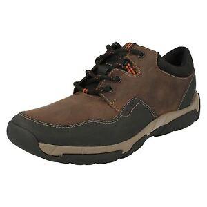 Clarks-Hombre-Walbeck-Edge-Informal-Resistente-a-la-Intemperie-Marron-Zapato