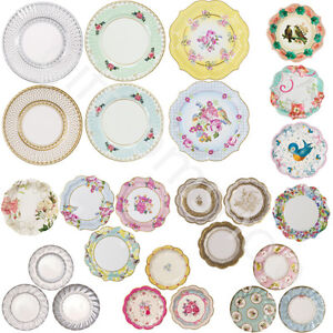 Image is loading Vintage-Luxury-Party-Paper-Plates-Disposable -Birthday-Wedding-  sc 1 st  eBay & Vintage Luxury Party Paper Plates Disposable Birthday Wedding Party ...