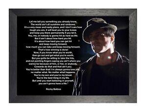 Detalles Acerca De Rocky Balboa 18 Sylvester Stallone Poster Motivacionales Inspiración Cotización De Imagen Mostrar Título Original