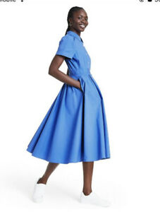 Details about Short Sleeve Shirtdress - ALEXIS for Target Blue XXS size