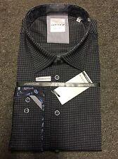 Jupiter Platinum Collection Microcheck Shirt/Black & Grey - 3X WAS £59.99