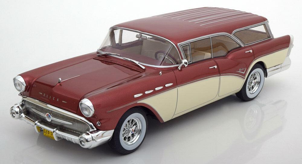 1957 Buick Century Caballero Familiar Rojo Metal por Bos Modelos Le de 504