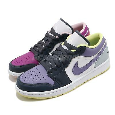 Nike Wmns Air Jordan 1 Low SE Mismatched Purple Magenta White Women DJ4342-400 | eBay