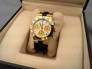 Montre Homme chrono Bvlgari Bulgari Diagono or gold 18 carats 38mm ... 808041ab35b