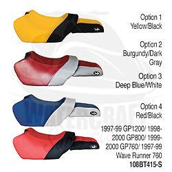 Yamaha Seat Cover 1999 2000 GP760//1997 98 Wave Runner 760 Custom Fit Seat Cover