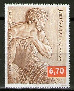 TIMBRE-3222-NEUF-XX-LUXE-JEAN-GOUJON-ARCHITECTE-ET-SCULPTEUR