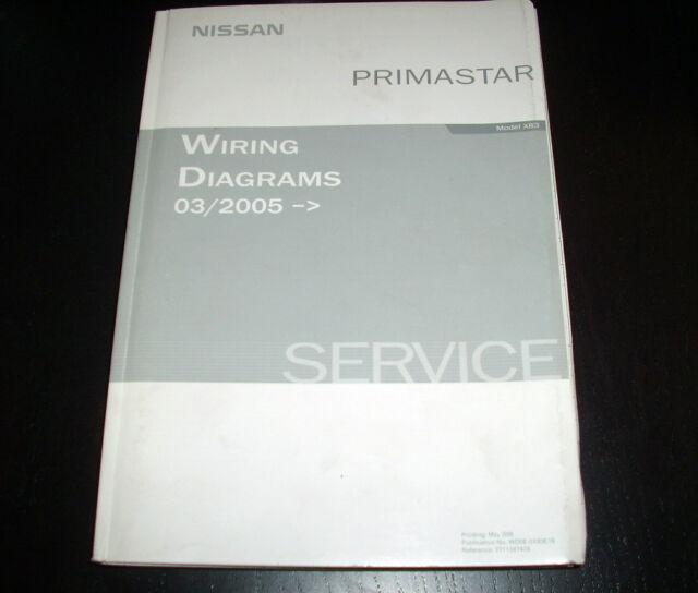 Workshop Manual Electricity Wiring Diagrams Nissan Primastar 03