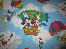 Mickey Minnie Mouse Disney Twin Flat Sheet Fabric Material Cutter Donald DUMBO