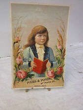 Antiquarian Victorian Trade Card ~ Compliments of Ivers & Pond - Piano Company