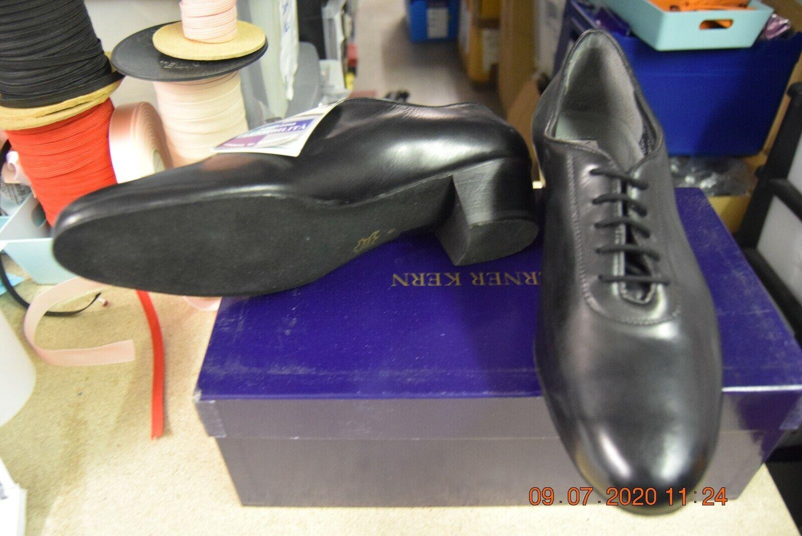 Black leather Werner Kern 28019 mens ballroom dance shoes - size 8