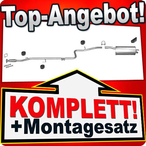 223 1.4 2005-2010 Auspuffanlage B67 1.4 // DOBLO CARGO 119 Auspuff FIAT DOBLO