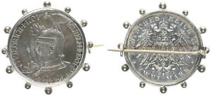 Empire, Patriotic Brooch, From 2 Mark 1901, Socket Silver (41203)