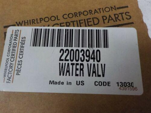 whirlpool water valve 22003940