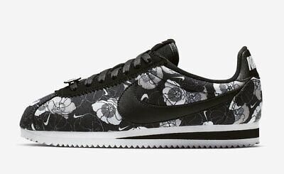 New Nike Women's Classic Cortez LX FLORAL Shoes (AV1338 001) BlackBlack White   eBay
