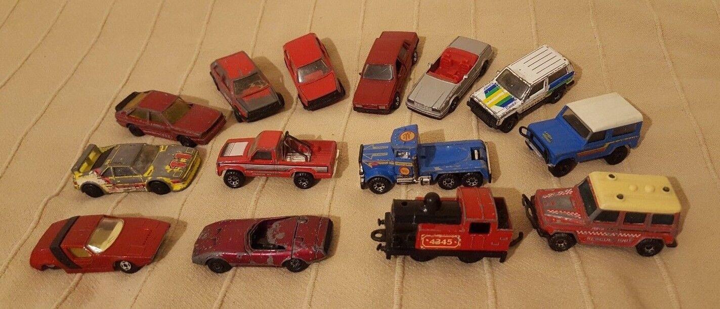 Lot de 14 mixte vintage MATCHBOX SUPERFAST Diecast Voitures Camions Train