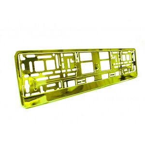 2-X-Amarillo-Metalico-Universal-ABS-Numero-De-Matricula-rodea-titulares-Marcos-M