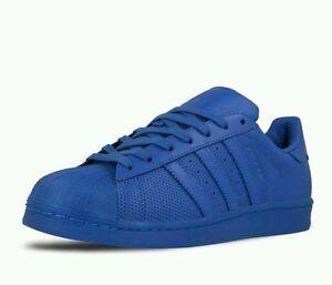 New adidas Originals Superstar All Blue S80327  US MENS SIZE 13