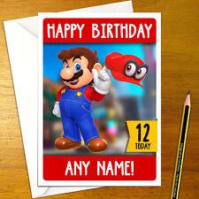 SUPER MARIO ODYSSEY Personalised Birthday Card - A5 nintendo bowser yoshi switch