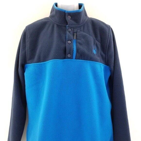 SPYDER blu Uomo's Frontier blu SPYDER Pullover Polar Fleece Size XL 9d6b9e