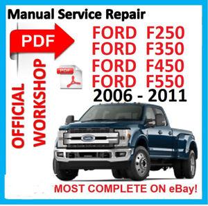 off workshop manual service repair for ford f 250 f 350 f 450 f 550 rh ebay com Ford F -250 Diesel Repair Manual 2001 Ford F -250 Manual