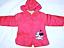 EX-Store ragazze con cappuccio inverno cappotto imbottito puff Carattere Minnie Mouse 3,4,5 anni,