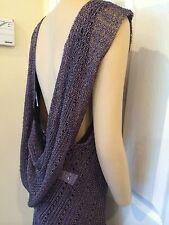 NEW Patrizia Pepe ITALY Dress tunic top Metallic Crochet one size Small Medium