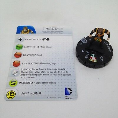 DC Heroclix Superman and Legion set Timber Wolf #015 Common