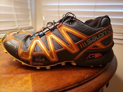 Homme SZ 7.5 Salomon SpeedCross 3 Trail Chaussures De Course Noir Orange Vert   eBay